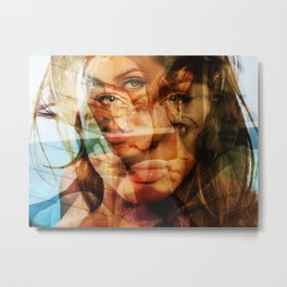 faces of Angelina Jolie3 Metal Print