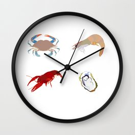 louisiana seafood Wall Clock