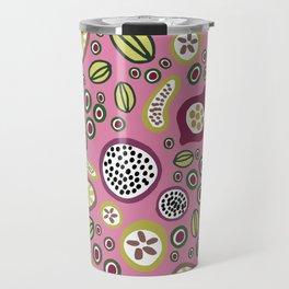 abstract fruit-salad  pink Travel Mug