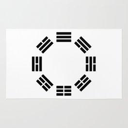 Black Hexagon I ching Feng Philosophy Rug