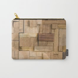 Wood bas-relief Carry-All Pouch