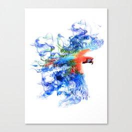 Smoking parrot Canvas Print