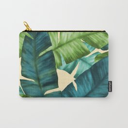 Tropical Banana Leaves Original Pattern Carry-All Pouch