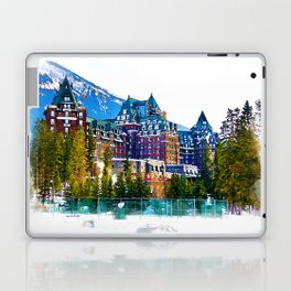 Castle in the Mountains - Banff Alberta Canada Laptop & iPad Skin