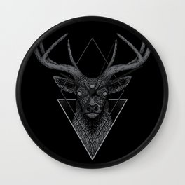 Dark Deer Wall Clock