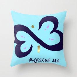 Rescue Me Minimal Throw Pillow