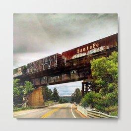 Graffiti Train Metal Print