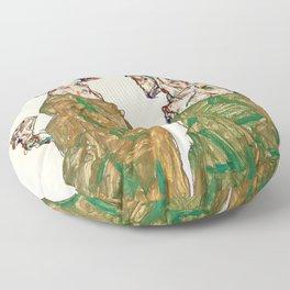 Egon Schiele - Devotion Floor Pillow