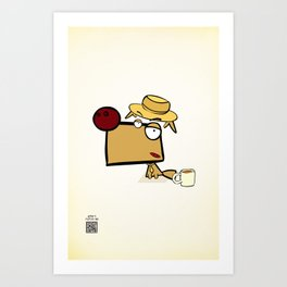 """Dialog with the dog N52 - """"Detective"""" Art Print"""