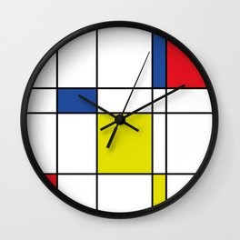 Mondrian 1 Wall Clock