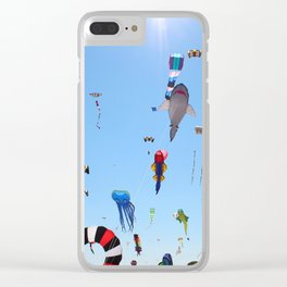 Kites over Lake Michigan Clear iPhone Case