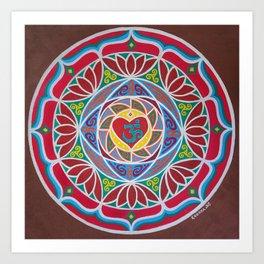 OM heart Art Print