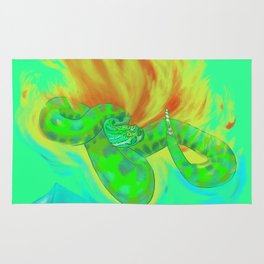 Crotalus between ice and fire Rug