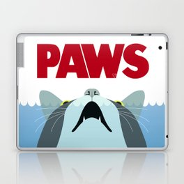 PAWS - Spoof movie poster inspired by classic cult horror film JAWS Laptop & iPad Skin