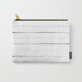 Minimalist Lines in Gray Carry-All Pouch