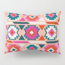 Kilim Abundance Pattern  - Blush & Teal Palette Pillow Sham