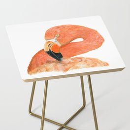 Breezy Flamingo by Teresa Thompson Side Table