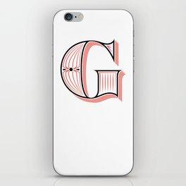 G Drop Cap iPhone Skin
