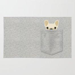 Pocket French Bulldog - Cream Rug