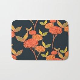 Orange autumn berries. Bath Mat