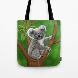 Blue-eyed Baby Koala Bear Tote Bag