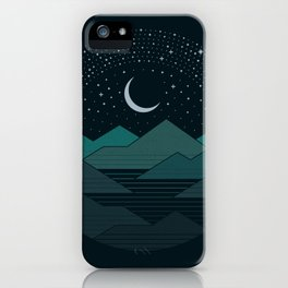 Between The Mountains And The Stars iPhone Case