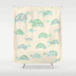 Turtle Shell Shower Curtains