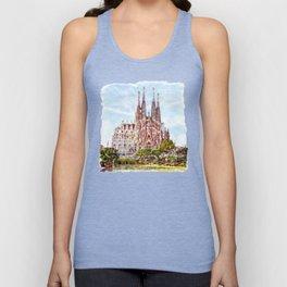 La Sagrada Familia watercolor Unisex Tank Top
