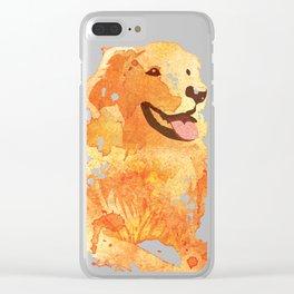 Golden Retriever Clear iPhone Case
