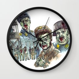 Hogan's Zombies Wall Clock