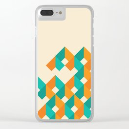 Pattern - Cube - Geen / Orange Clear iPhone Case