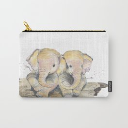 Happy Little Elephants Carry-All Pouch