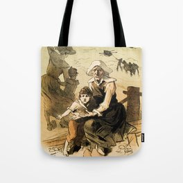 1890 Drowned fishermen charity ball by Chéret Tote Bag