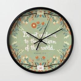 Romans 12:2 Do Not Conform Wall Clock