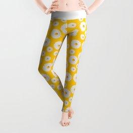 Yellow Daisy Repeat Leggings
