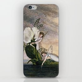 """Fairies Floating Downstream"" by Amelia Jane Murray iPhone Skin"