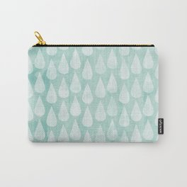 Big Drops Blush Blue Carry-All Pouch