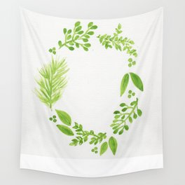 Green Wreath Wall Tapestry