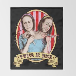 Tattler Twins (color) Throw Blanket