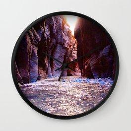 The Zion Narrows Wall Clock