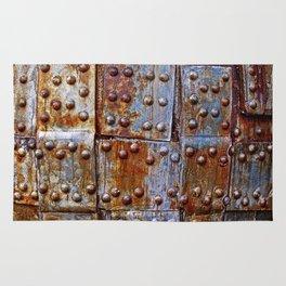 Rusty iron armour Rug