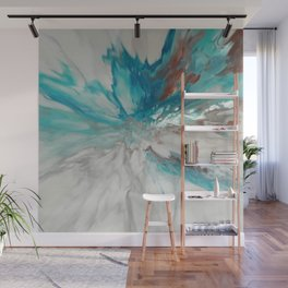 Blown Away - Abstract Acrylic Art by Fluid Nature Wall Mural