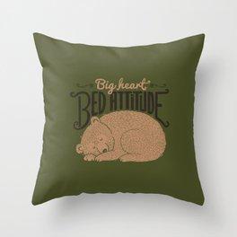 Big Heart Bed Attitude Throw Pillow