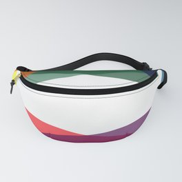 Rainbow geometry Fanny Pack