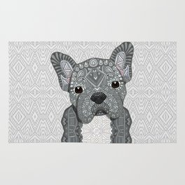 Gray Frenchie 001 Rug
