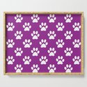 Purple and white paws pattern by perldesign