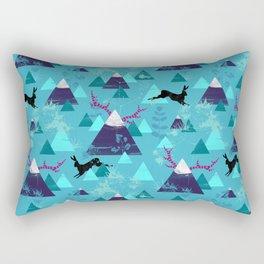blu mountains Rectangular Pillow