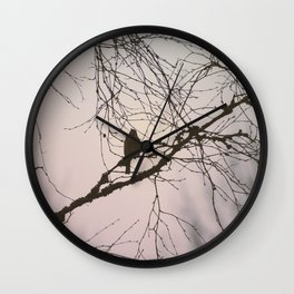 Bird and branches Wall Clock