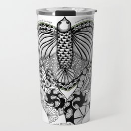 This goodbye is not forever Sympathy  - Zentangle Illustration Travel Mug