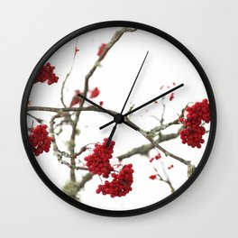 Wintry Day  Wall Clock